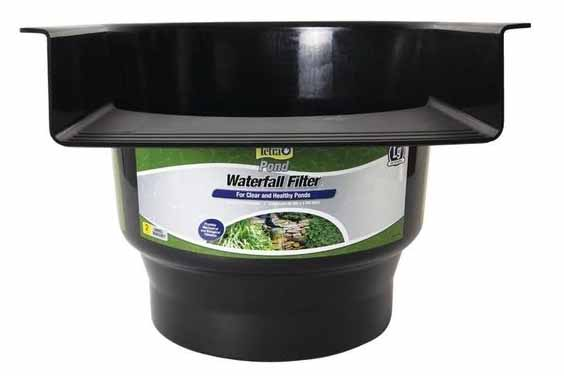 Waterfall filter for fish ponds