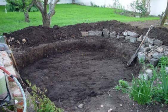 A dug pond site